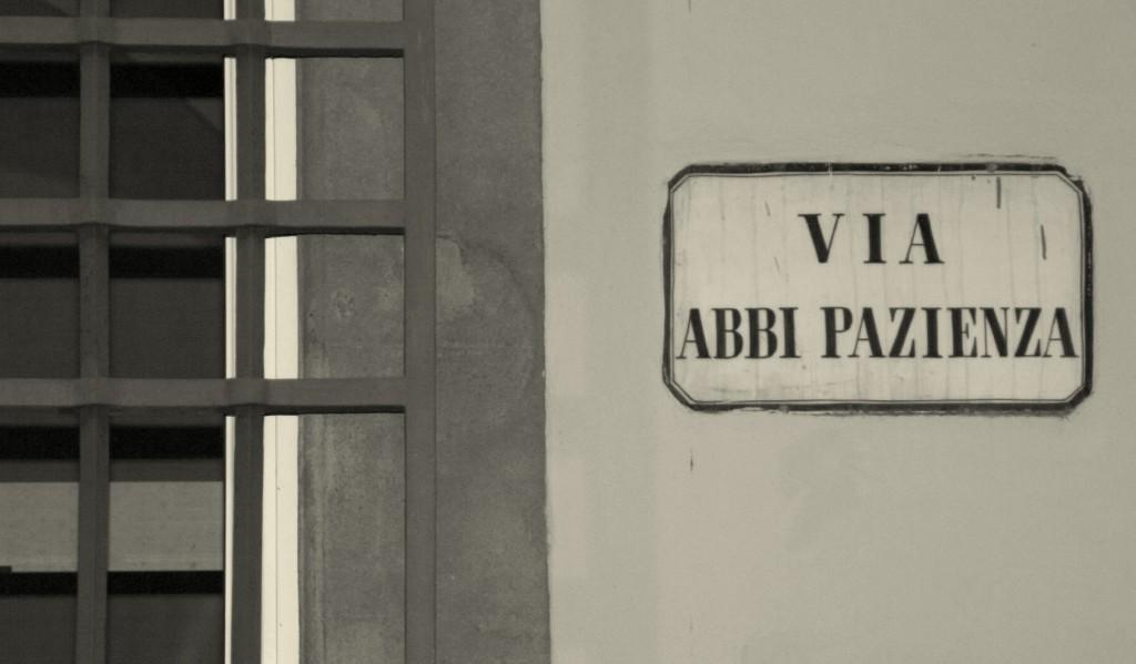 Pistoia, via Abbi Pazienza