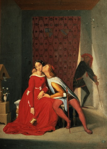 Dominique Ingres: Gianciotto sorprende Paolo e Francesca