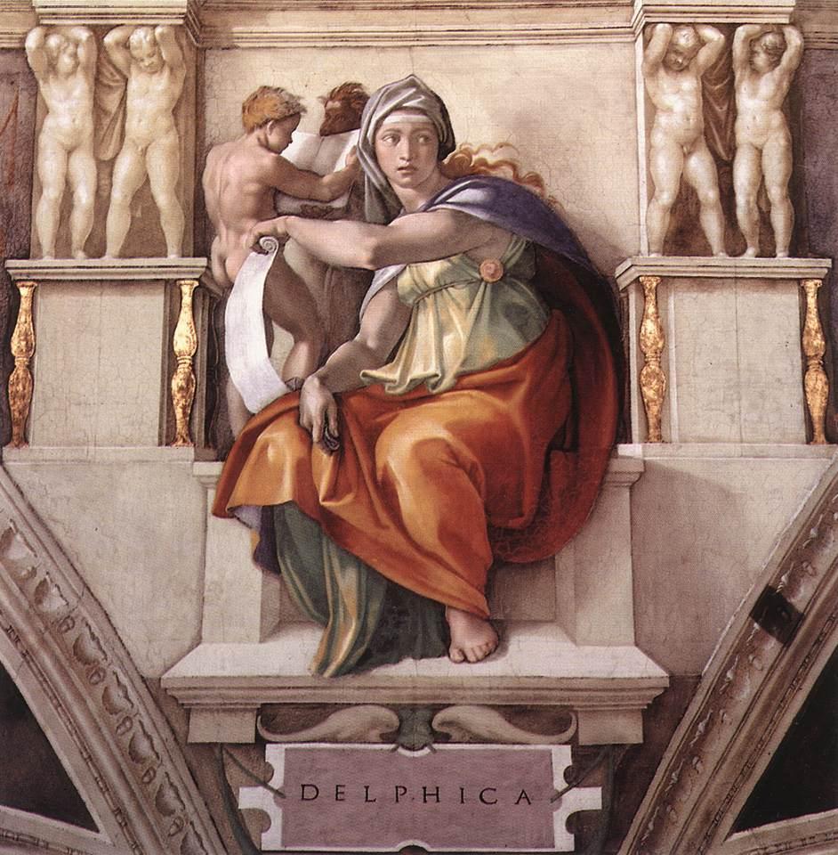 MIchelangelo Buonarroti, Sibilla di Delfi