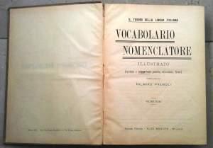 Il Vocabolario nomenclatore del Premoli: vecchio (1919), ma sempre interessante