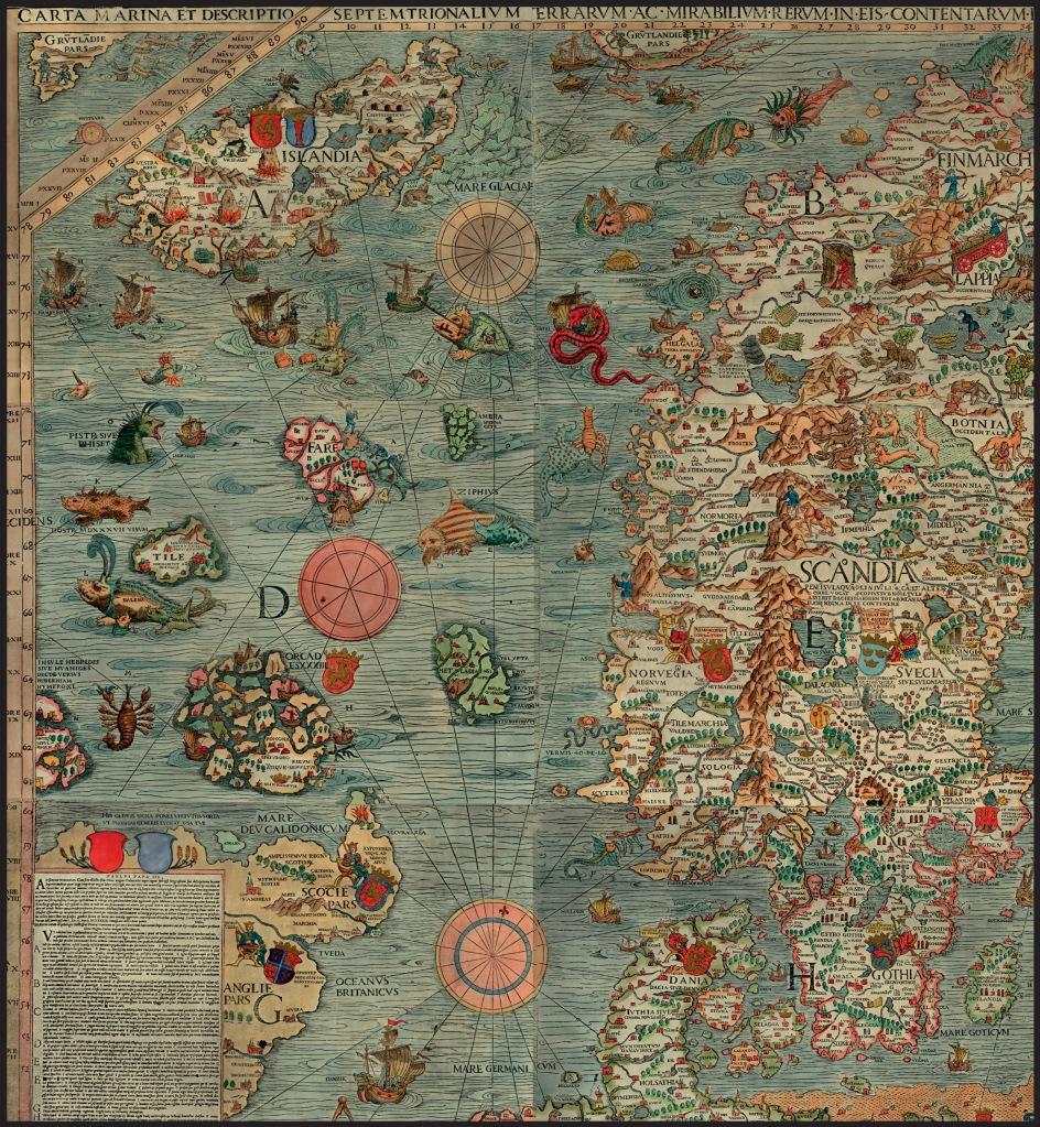Una mappa dei mostri marini