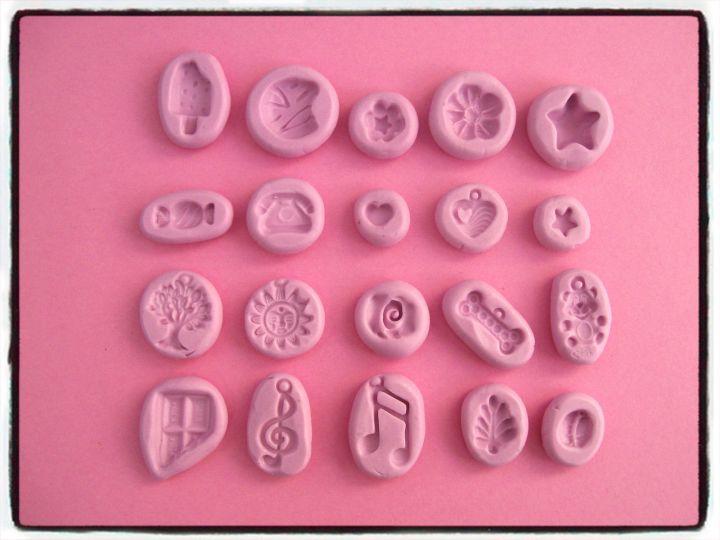 lotto-20-stampini-diversi-stampi-formine-fimo-gomma